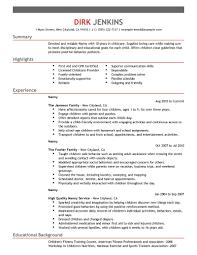 sports resume format nanny resume samples cv resume ideas exciting nanny resume samples 2 best example