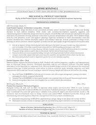 Sample Resume Objectives For Mechanical Engineer by Example Of Engineering Resume Resume For Your Job Application