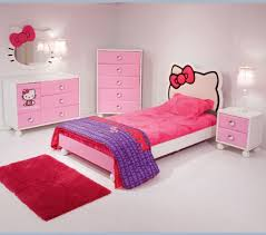 sleek bedroom with hello kitty design with customized pink colors