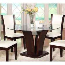 Round Dining Table With Glass Top Pretty Round Glass Top Dining Table On Round Glass Top Dining