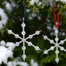 snowflake tree decoration by louise designs