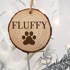 personalised cat paw christmas tree decoration by letteroom