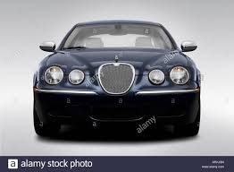 2008 jaguar s type 3 in blue low wide front stock photo royalty