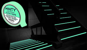 minty glow tape bright glow in the dark fluorescent green tape