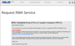 how to rma a defective product