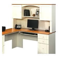 Sauder White Desk by Desk Sauder Harbor View Computer Desk With Hutch Antiqued Paint