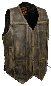 leather biker gear brown distressed leather biker vest 4x at amazon men u0027s clothing