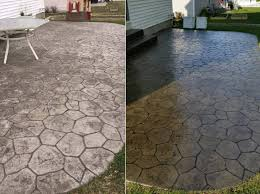 Sealing A Flagstone Patio by Armor Ar350 Solvent Based Acrylic Wet Look Concrete Sealer And