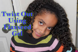 27 curly method flaxseed twist out on kids hair youtube