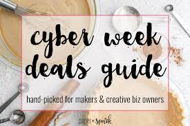 cyber week deals picked for makers and creative
