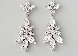 champagne wedding earrings art deco bridal earrings vintage