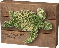 plank artwork the fixes everything sea turtle string plank board box