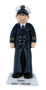 buy navy officer ornament personalized