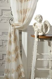 Patterned Sheer Curtains A Pair Of Gold Leaf Patterned Embroidey Sheer Curtains Made To