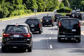 drake house and cars rogue vehicle gets too close to trump u0027s motorcade new york post