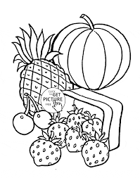 fruits coloring page for kids fruits coloring pages printables