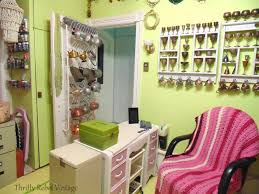 Pink Craft Room - craft room organization the reveal thrifty rebel vintage