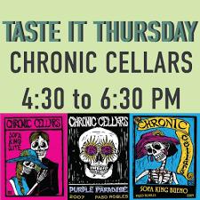 chronic cellars sofa king bueno taste it thursday chronic cellars the wharf marketplace