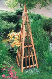 plans and instructions for building a garden obelisk including 10