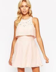 asos embellished crop top skater dress cocktail dresses