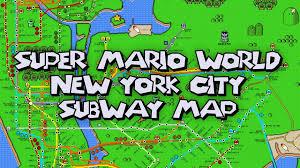 New York City Mta Map by New York City Super Mario World Poster Youtube