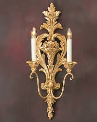 Zara Wall Sconce Sconces 18th Century French Style Hand Crafted Wall Sconce Let