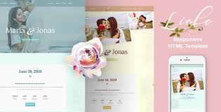 wedding site liebe responsive html wedding template by ingridk themeforest