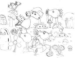 kids drawing of plant vs zombie coloring page coloring sky