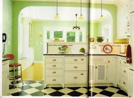 painting 1950s kitchen cabinets retro design ideas warm paint