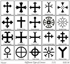 different types of crosses and their meanings royalty free