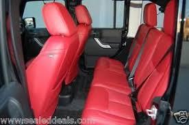 Jeep Wrangler Leather Interior New 2013 2014 2015 2016 2017 Jeep Wrangler Red Katzkin Leather