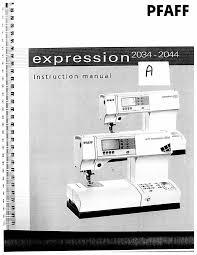 28 pfaff manual 2034 instruction manual pfaff expression