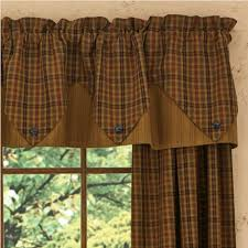 Primitive Kitchen Curtains Country Point Valance Curtains Primitive Spice 72 X 15