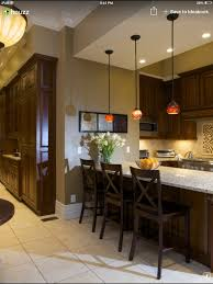 Best Paint Color For Kitchen With Dark Cabinets by Sw Latte Wall Color Dark Stained Cabinets Light Flooring