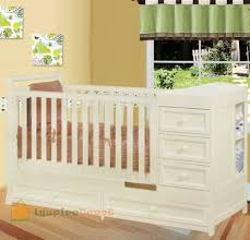 Convertible Cribs With Changing Table And Drawers Crib Dresser Changing Table Combo Best Multifunctional Design