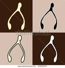 wishbone icon stock images royalty free images vectors