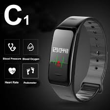 c1 bluetooth smart wristband bracelet smartband rate monitor