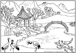 coloring pages for landscapes landscape coloring pages to download and print for free