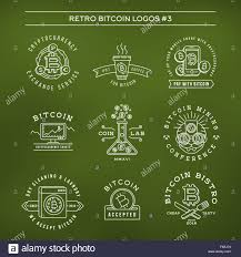 bitcoin logo templates set cryptocurrency badge collection