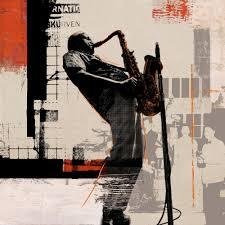 bar wall art wall murals ideas aliexpress buy rock jazz saxophone performances poster home