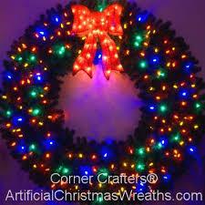 multi colored led christmas lights 6 foot multi color l e d christmas wreath
