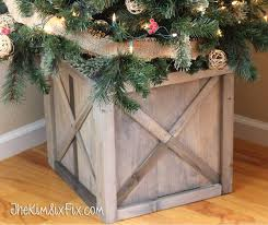 christmas tree holder rustic crate christmas tree stand buildsomething