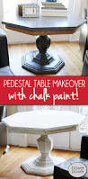 Td Furniture Outlet by Pedestal Table Makeover Pedestal Paint Furniture And Chalk Paint