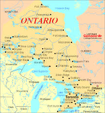 canadian map cities cities in ontario canada map