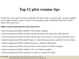 sample pilot resume sample resume and free resume