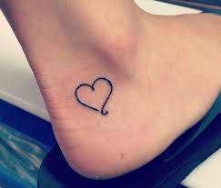 black heart shape small ankle tattoo tattooimages biz
