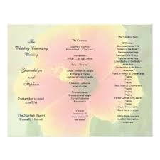 folded wedding program tri fold wedding programs gifts on zazzle