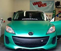 mazda united states mazda 3 dressed in emerald green with satin black accents yelp