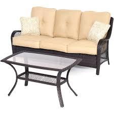 Tan Wicker Patio Furniture - cosco malmo 4 piece brown resin wicker patio conversation set with