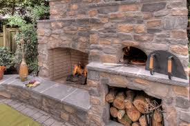 Outdoor Grill And Fireplace Designs - outdoor fireplace with pizza oven patio contemporary with built in